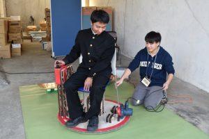 Omuta Factoryで出展されたホバークラフト車