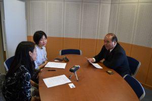 同窓会長岡さんへのインタビュー